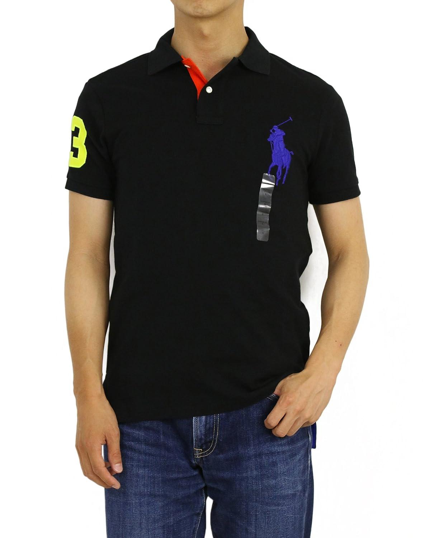 (ポロ ラルフローレン) POLO Ralph Lauren カスタムフィット メンズ ビッグポニー ポロシャツ CUSTOM FIT 0105550 [並行輸入品] B07598SKGB US L (日本2L相当)|POLO BLACK POLO BLACK US L (日本2L相当)