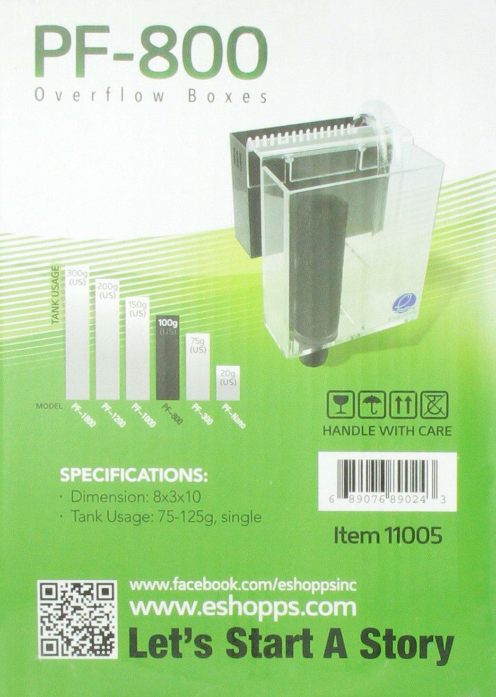 Eshopps AEO11005 Overflow Boxes Pf-800 for Aquarium Tanks by Eshopps Inc.