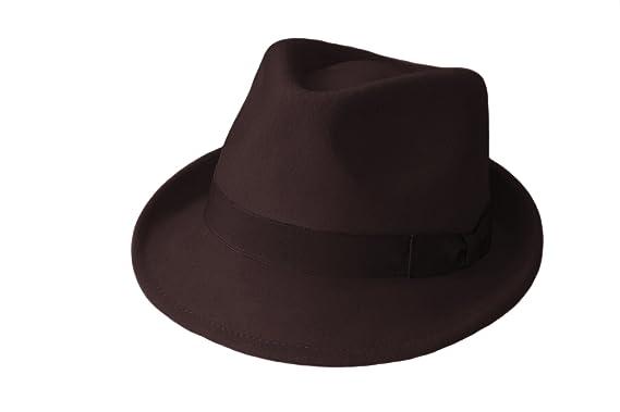 100% Wool Trilby Hats fdafd896113