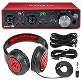 Focusrite Scarlett 2i2 2-in 2-out USB Recording Audio Interface (3rd Generation) + Samson SR360 Over-Ear Dynamic Headphones,