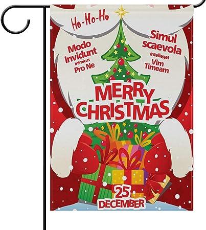 Christmas Santa Claus Decorative Winter Welcome Garden Flag Banner Party Home yu