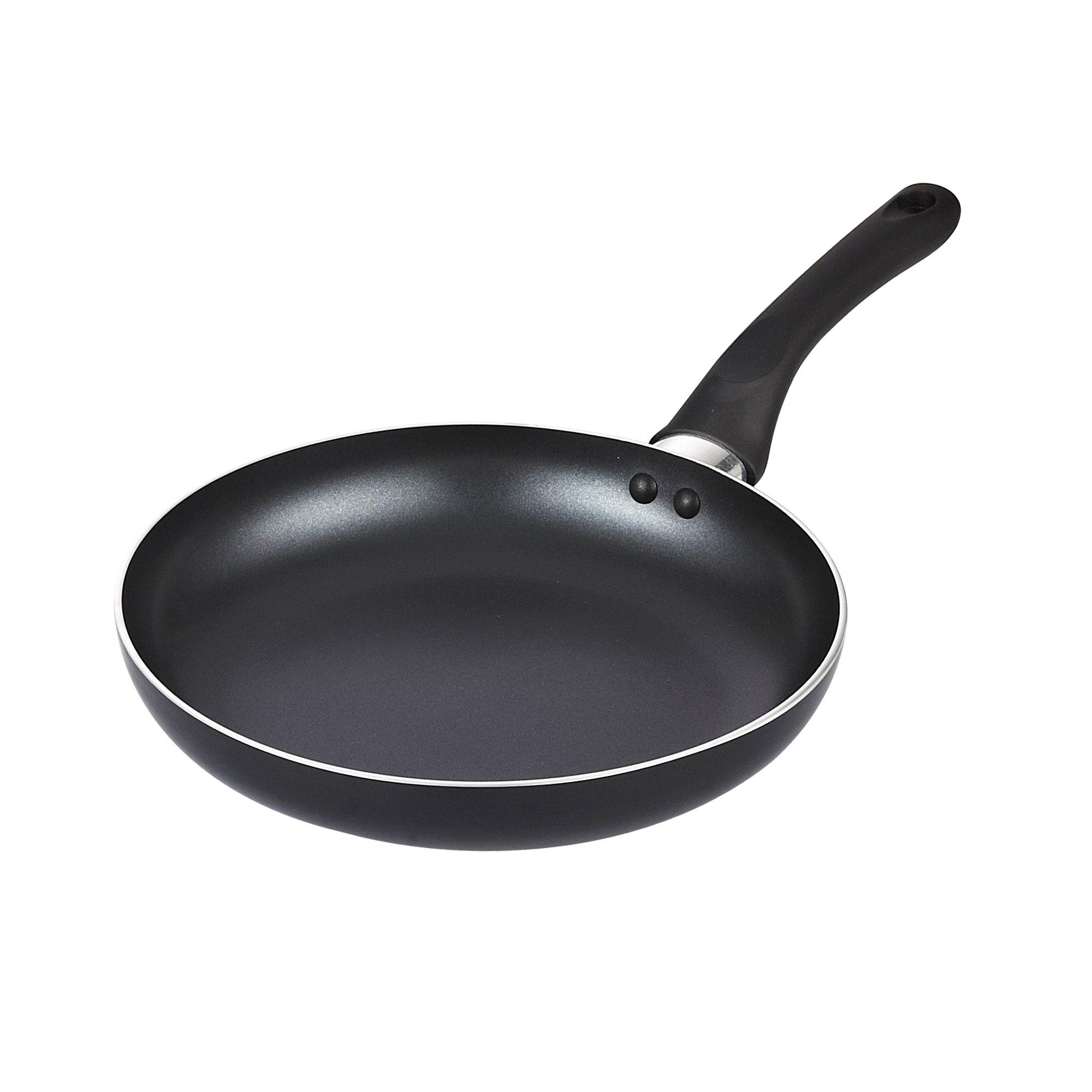 Cook N Home 11-Inch Nonstick Saute Fry Pan, 28cm, Black