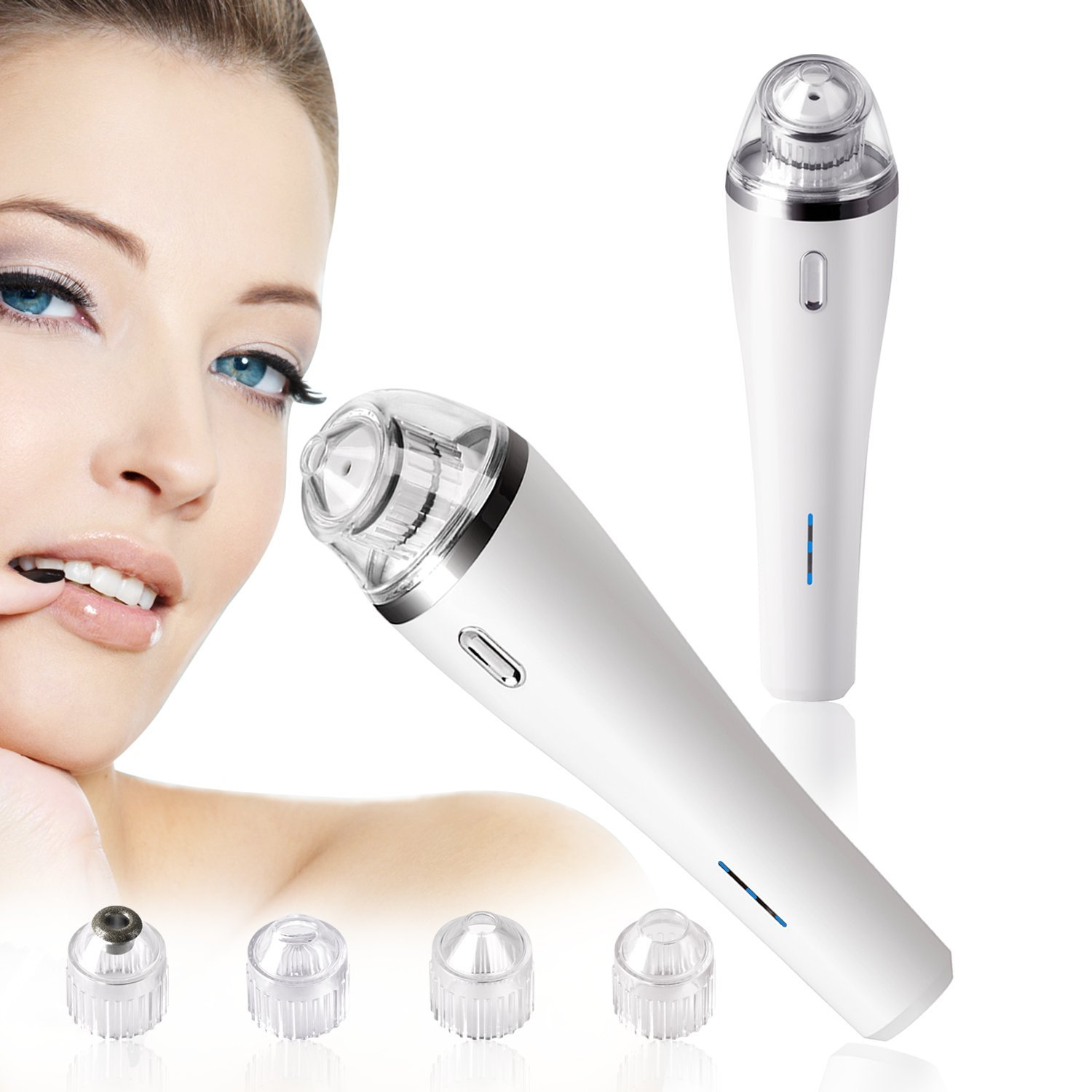 Electronic Blackhead Remover, 2018 Daluo New Arrival Vacuum Facial Pore Cleaner Comedo Suction Acne Removal (Pearl White)
