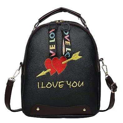 Bolsos Mochilas Mujer Color de Contraste Casual Mochila Bandolera de PU de Personalidad Bolsa de Moda Paquete de Viaje y Ocio para Mujeres y Chicas Diario Messenger Bag Backpack