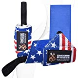 DMoose Fitness Wrist Wraps for Weightlifting, Powerlifting, Strength Training, Benching, Bodybuilding & Crossfit, Thumb Loops with Adjustable Straps, Men and Women