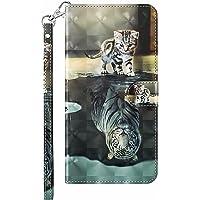 Capa para Samsung Galaxy A22 5G, capa carteira de couro PU premium com pintura em aquarela 3D, capa para celular para…