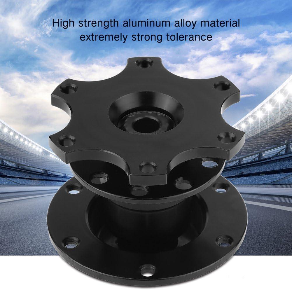 Qiilu Kit de Adaptateur de moyeu de volant /à d/égagement rapide pour voiture de course noir moyeu de volant universel de voiture