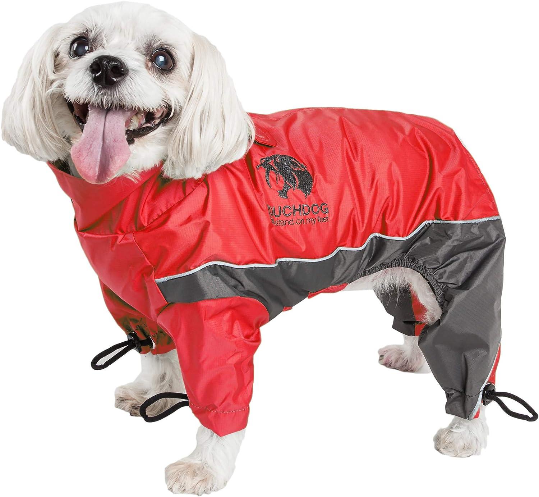 X-Large Sporty Orange DOGHELIOS Thunder-Crackle Full-Body Bodied Waded-Plush Adjustable and 3M Reflective Pet Dog Jacket Coat w//Blackshark Technology
