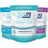 Ultimate Epsoak Epsom Salt Bath Soak Bundle (6lbs) – 3 pack of Sleep Formula Bath Salt, Muscle Soak Bath Salt, Original Unscented Epsom Salts