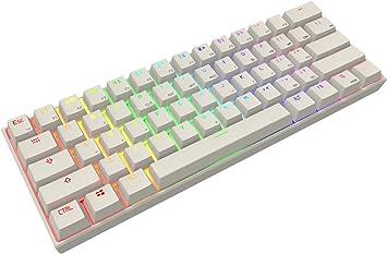 61 teclas teclado mecánico, Full RGB retroiluminación PBT teclas ...