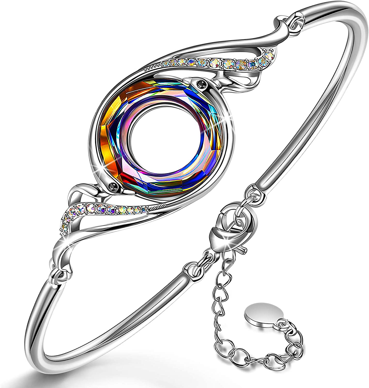 Kate Lynn - Nirvana de Fénix - Pulsera, Simbolizando la Suerte y la Renovación, Cristales de Swarovski, Diseño Original, Elegante Caja de Regalo