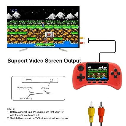 Lychee Mini Retro Handheld FC Consola de Juegos Portátil / 400 Juegos Clásicos / Pantalla LCD de 3 Pulgadas HD / Salida de TV, Cumpleaños para ...
