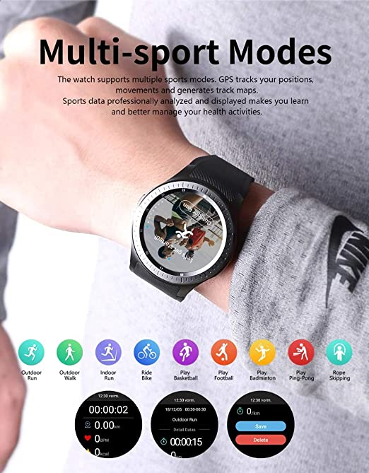 Amazon.com: DM368 Plus 4G Smart Watch Android 7.1 Support ...
