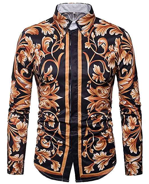 M/&S/&W Mens Long Sleeve Lapel Slim Fitted Button Down Shirts Tops