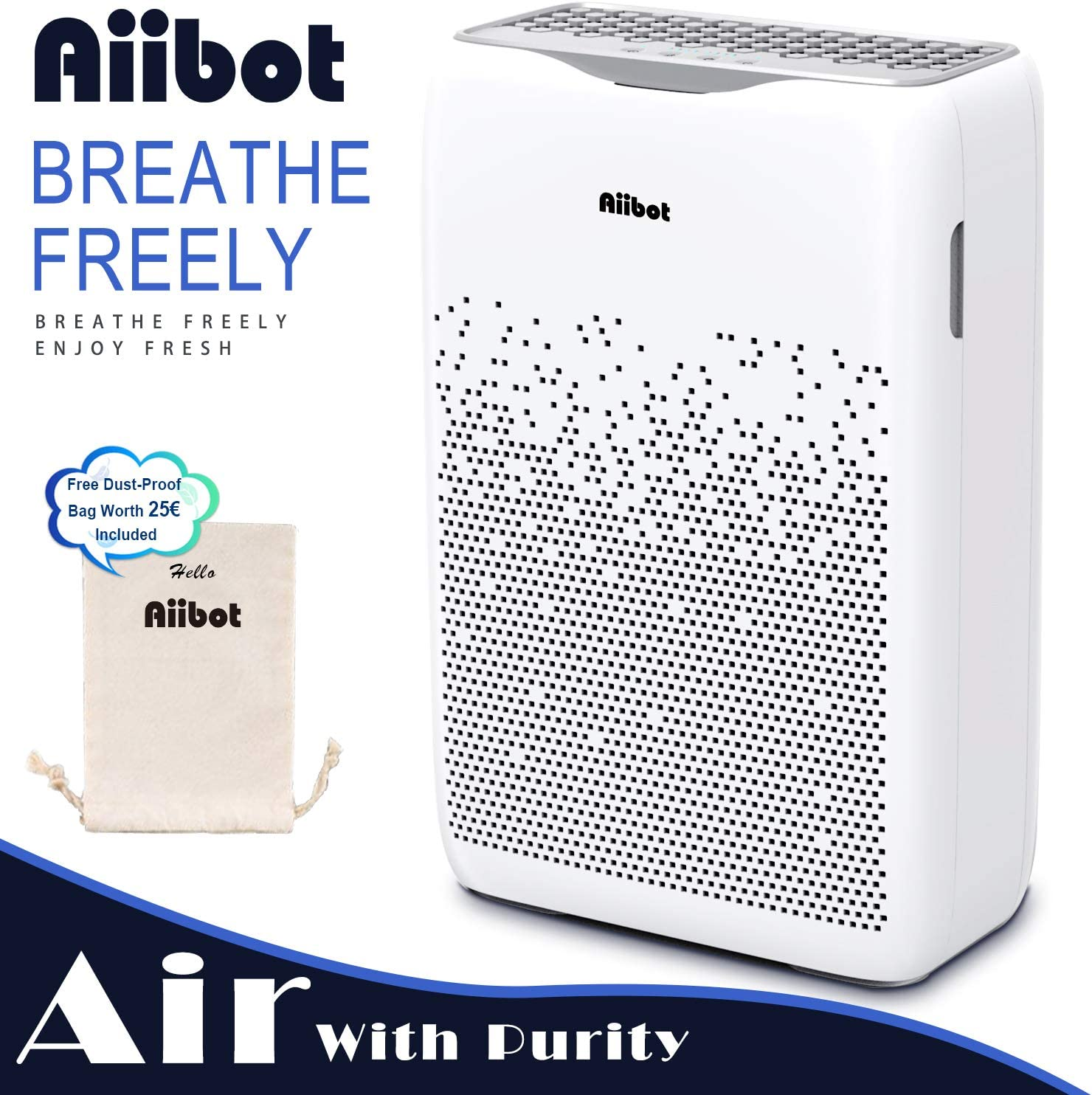 AIIBOT Purificador de Aire con 4 Sistemas de Filtración, Iones ...