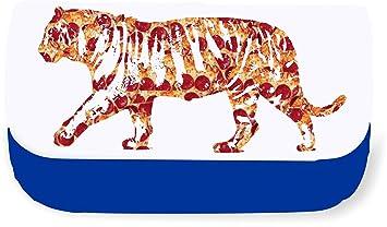 Pizza Animal Silhouette Tiger - Bolsa de mano o estuche para ...