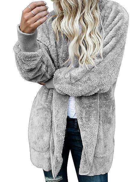 Amazon.com: Chaqueta con capucha y forro polar para mujer ...