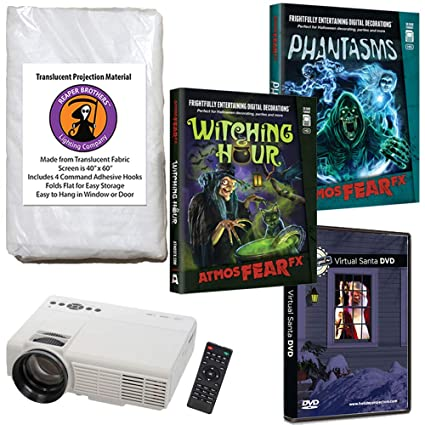 atmosfearfx phantasms witching hour virtual reality projector value kit for halloween includes free virtual