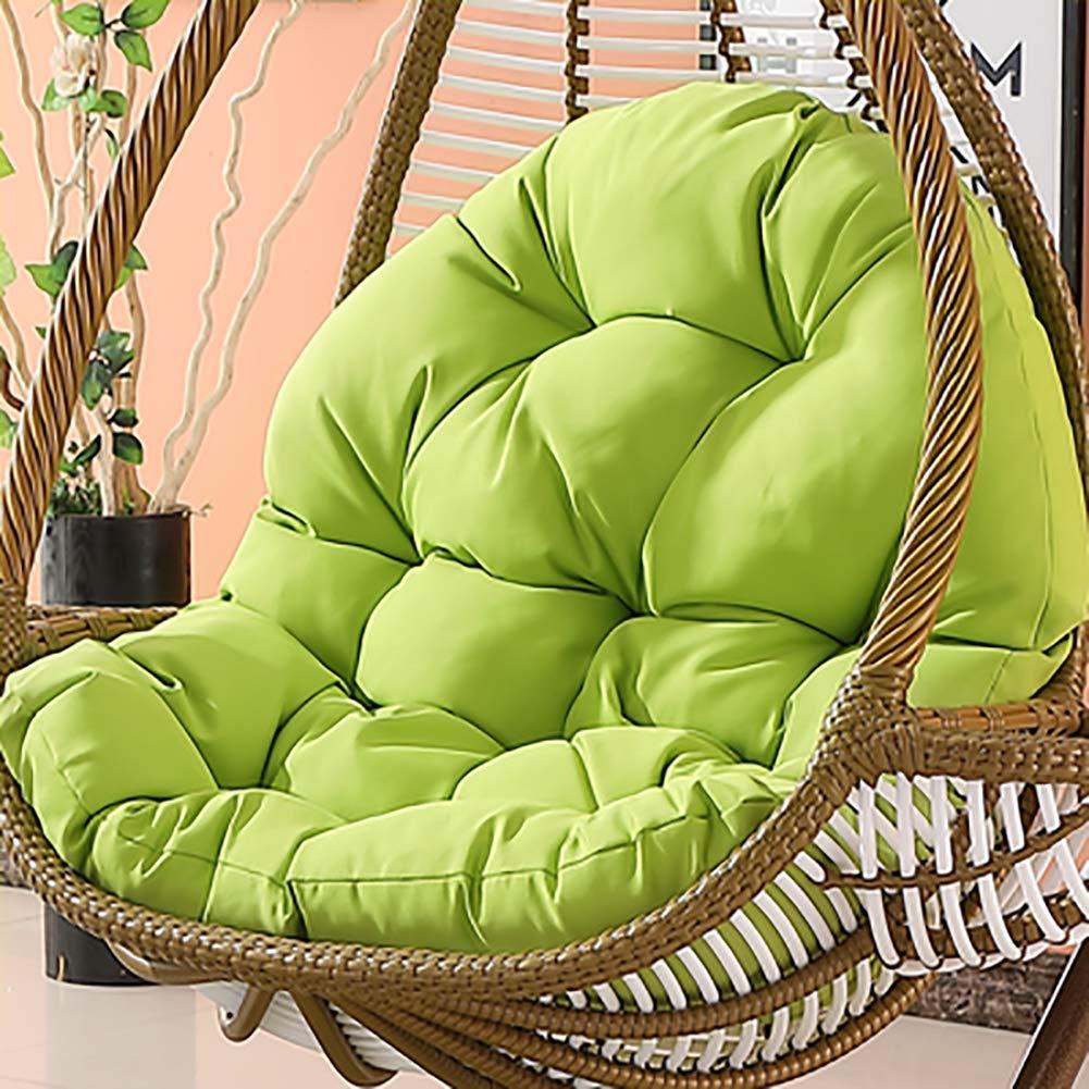 47x34inch Swing Chair Wicker H/ängematte Weben Ei Pad Balkont/ür Terrasse Garten-ohne Stand-a 120x86cm MSM Wasserdicht H/ängen Sitzkissen