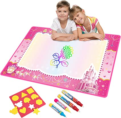 Water Doodle Mat Water Drawing Mat Kids Toys Large Magic Toddlers Painting Board Writing Mats Scribble