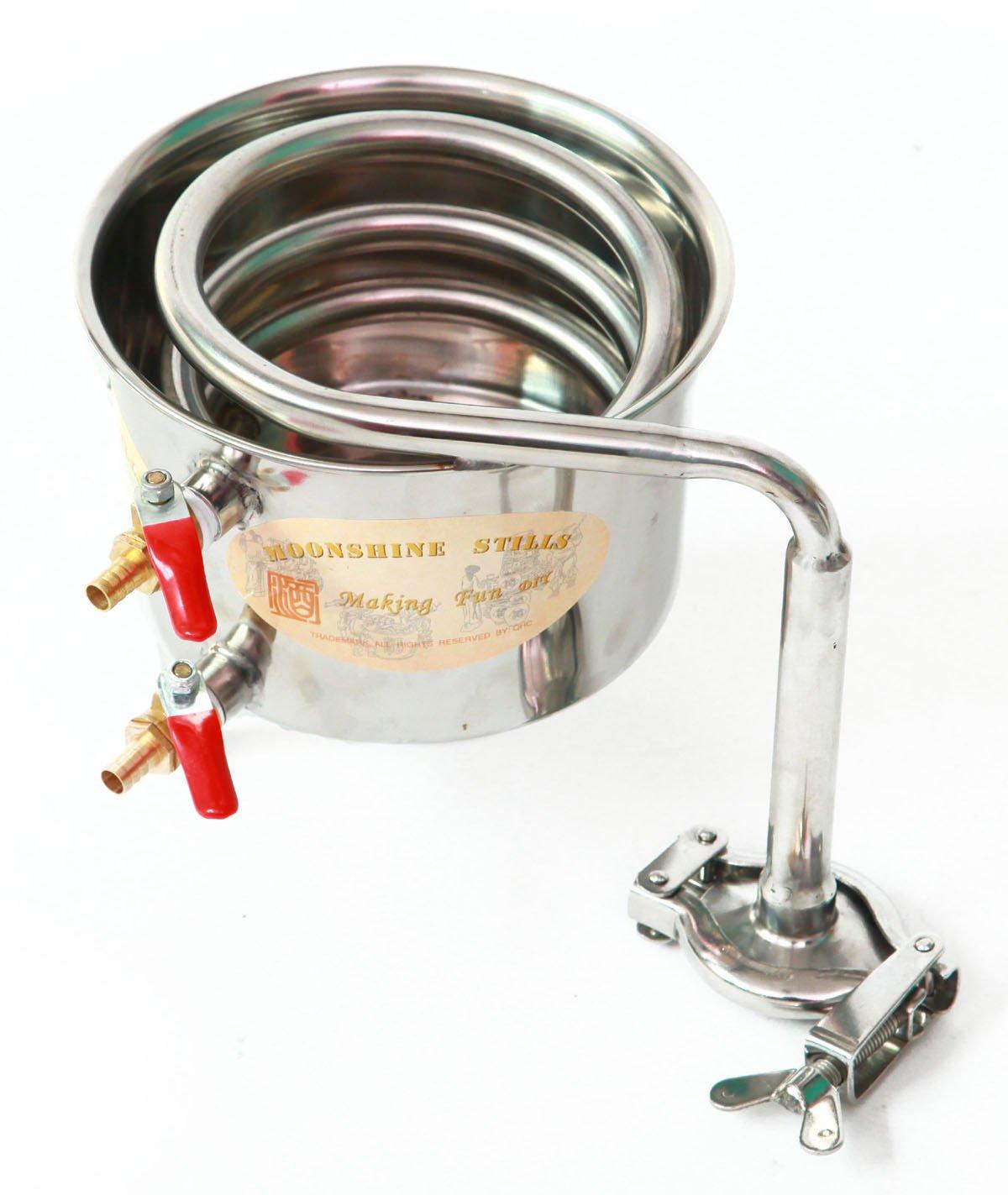 DIY 2 Gal 10 Liters Home Alcohol Whiskey Distiller Moonshine Still Stainless Steel Boiler Wine Making Kit by WMN_TRULYSTEP (Image #5)