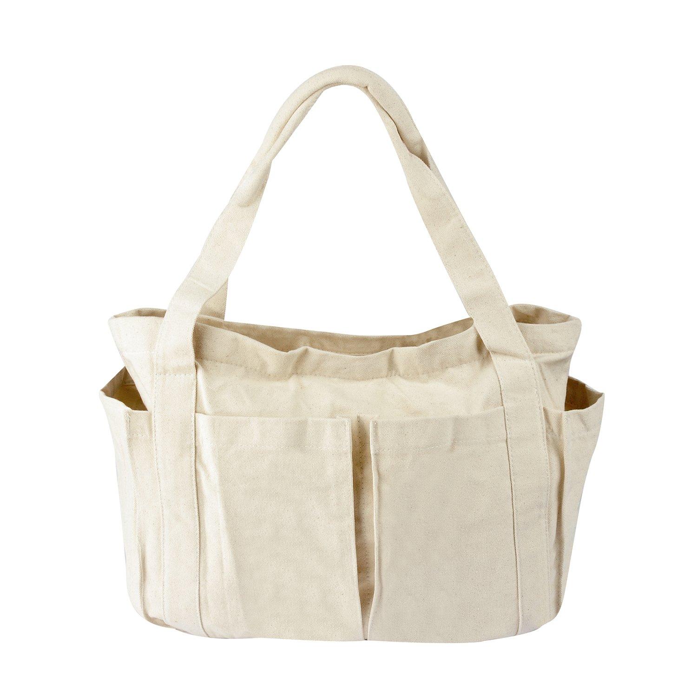 MIQI Women's Tote Bag Canvas Shoulder Bag Handbag-White