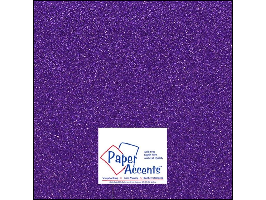 Accent Design Paper Accents ADP1212-15.G46 No.85 12 x 12 Grape Gem Glitter Card Stock