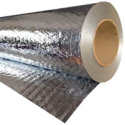 RadiantGUARD Classic Radiant Barrier Residential Grade 1000 sq ft roll |  48-inch by 250-feet | C-1000-B | Breathable Reflective Attic Foil House  Wrap