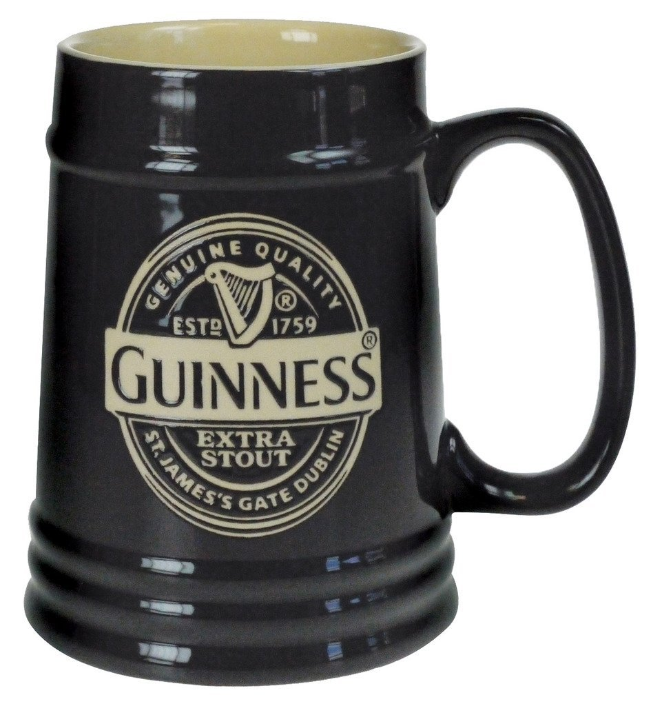 Guinness Black Ceramic Label Tankard Guinness Official Merchandise GNS2648
