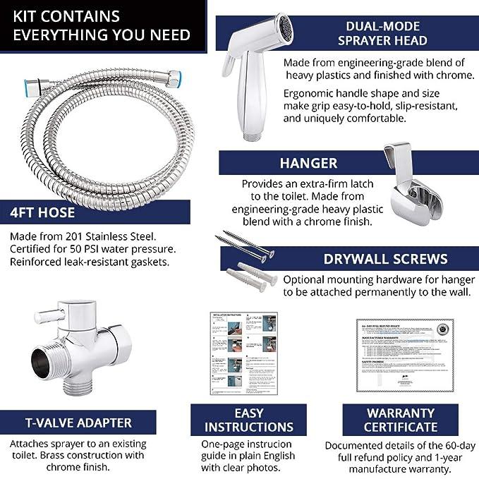 Amazon.com: JP - Kit de pulverización para inodoro de mano a ...