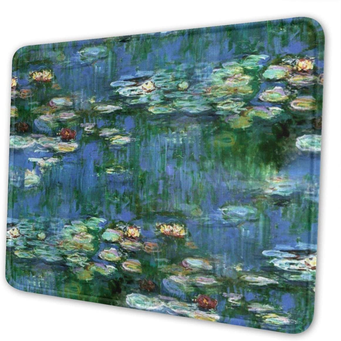 Mouse Pad Lilies Claude Monet Water Lilies Premium Gaming Mat Non-Slip Rubber Base for Computers Laptop Office Desk Accessories 10×12 Inches