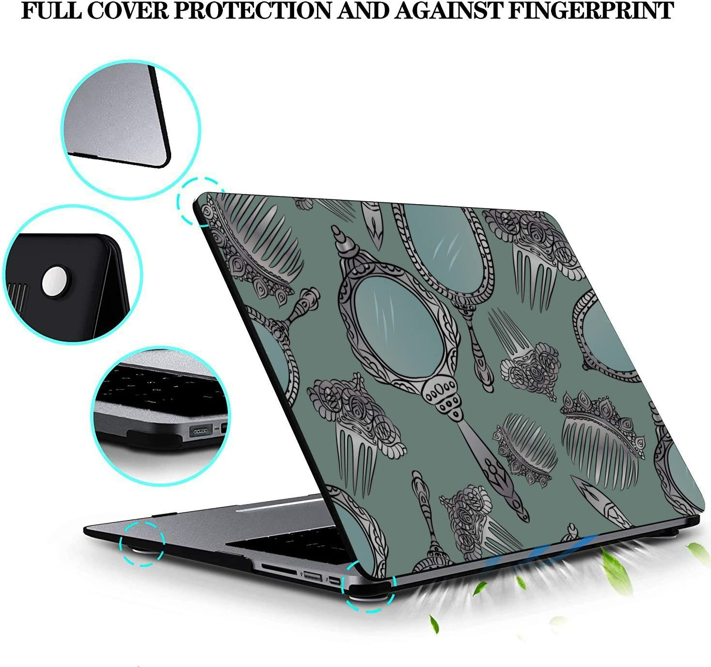 Mac Book Pro Case Small Objects Beauty Dressing Mirror Plastic Hard Shell Compatible Mac Air 11 Pro 13 15 13 Inch MacBook Case Protection for MacBook 2016-2019 Version
