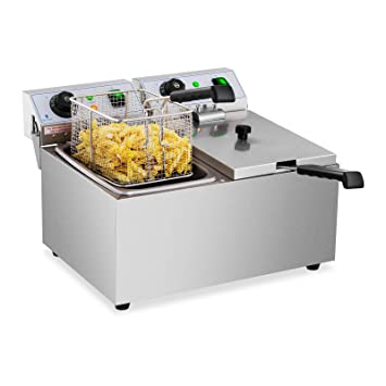 Royal Catering Freidora Electrica Profesional Doble Para Hostelería RCEF 08DB (2 x 8 Litros,