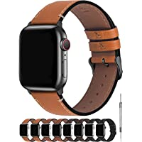 Fullmosa Compatibel Apple Watch armband 40mm/38mm, vintage leren band voor Apple Watch serie 5/4 40mm, Nike+ Series SE 6…