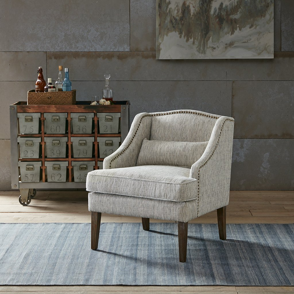 Amazon.com: Baylor Swoop Arm Accent Chair Grey Multi See below ...