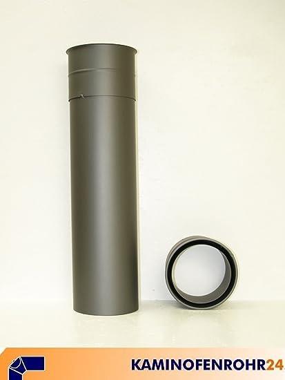 Tubo de estufa mampostería funda doble forro de pared con soldada extensión de diámetro 120 mm