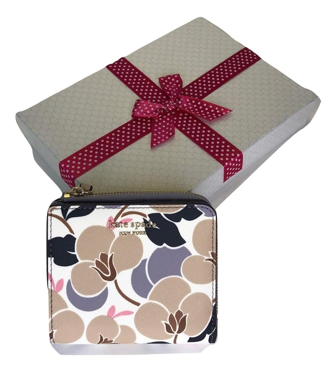 Kate Spade New York Small Bifold Wallet (Cameron WLRU5410 Breezy Floral)