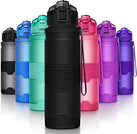 Protein Shaker Sports Water Bottle BPA Free Plastic Running Drinks For Adult Kid