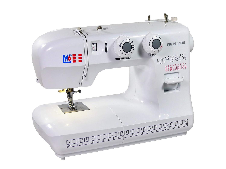 W6 N 1135 Máquina de coser - Máquina de coser de brazo libre Super Nutz punto (19 programas) - 10 años de garantía: Amazon.es: Hogar