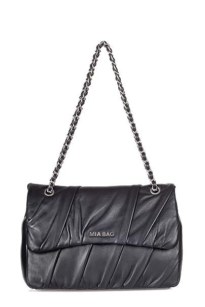 Mia Bag - Tracolla Grande donna Nero 18322 Tracolla p  Amazon.it   Abbigliamento 90fb545b95d