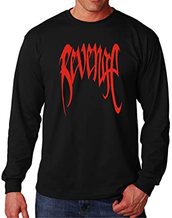 0bbac4a9d494 MYOS XXXTentacion Red Revenge Black Long Sleeve T | Amazon.com