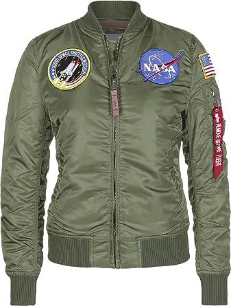 Alpha Industries Mens MA1 NASA Retro Flight Pilot Jacket  Amazon.co ... d60a58a35