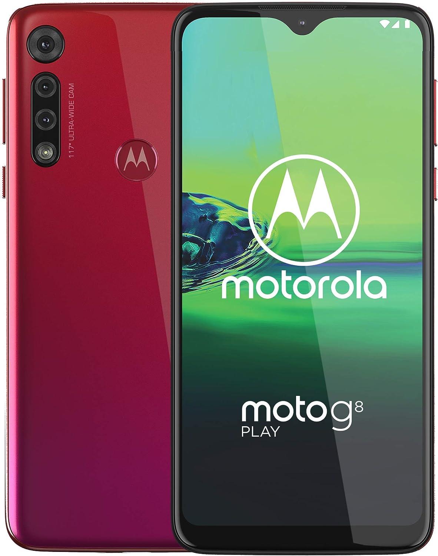 Moto G8 Play, Unlocked, International GSM only, 2/32GB, 13MP Camera, 2019, Red (XT2015-2)