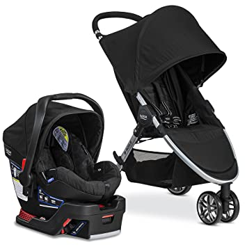 54691ad22 Image Unavailable. Image not available for. Color: Britax 2017 B Agile & B  Safe 35 Travel System, Black