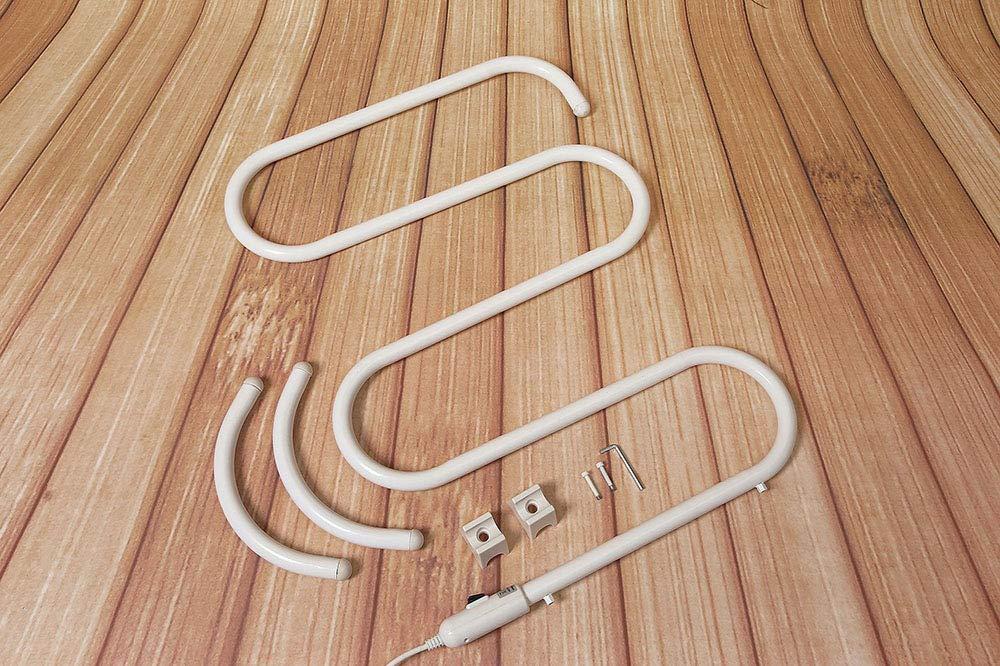 Elektro-Trocken-Rack Elektro-Trocken-Trockner ZUZEN S-Type Floor Heizung Handtuch Rack Bad Handtuch Trocknungsbran Rack geeignet f/ür Bad Schlafzimmer-K/üche