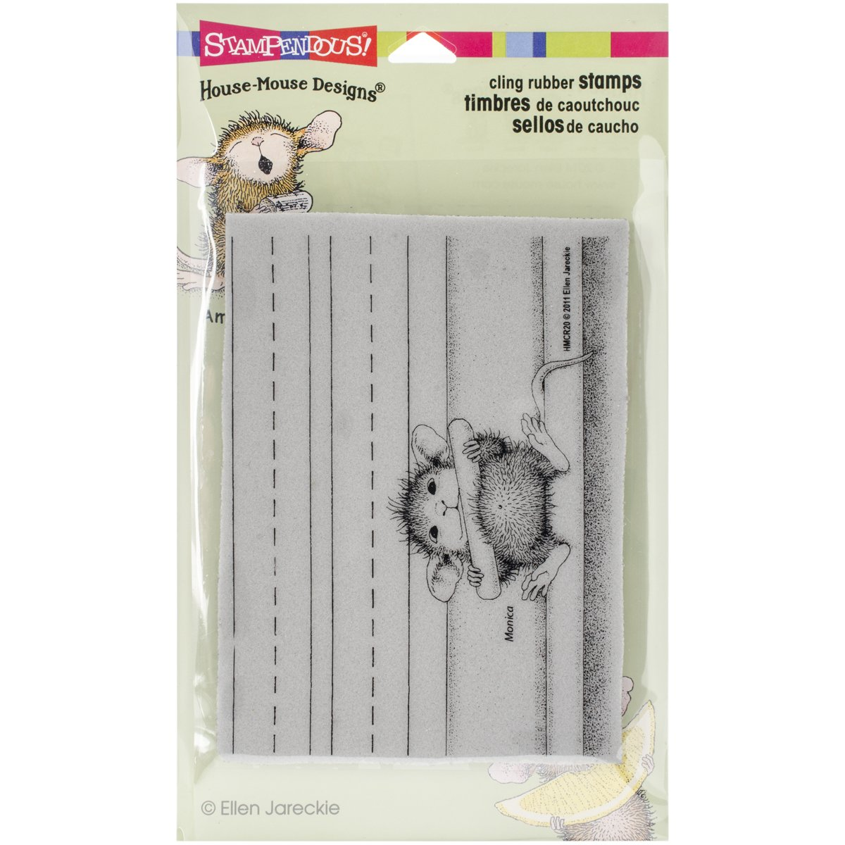 Stampendous House Mouse si aggrappano timbro 4