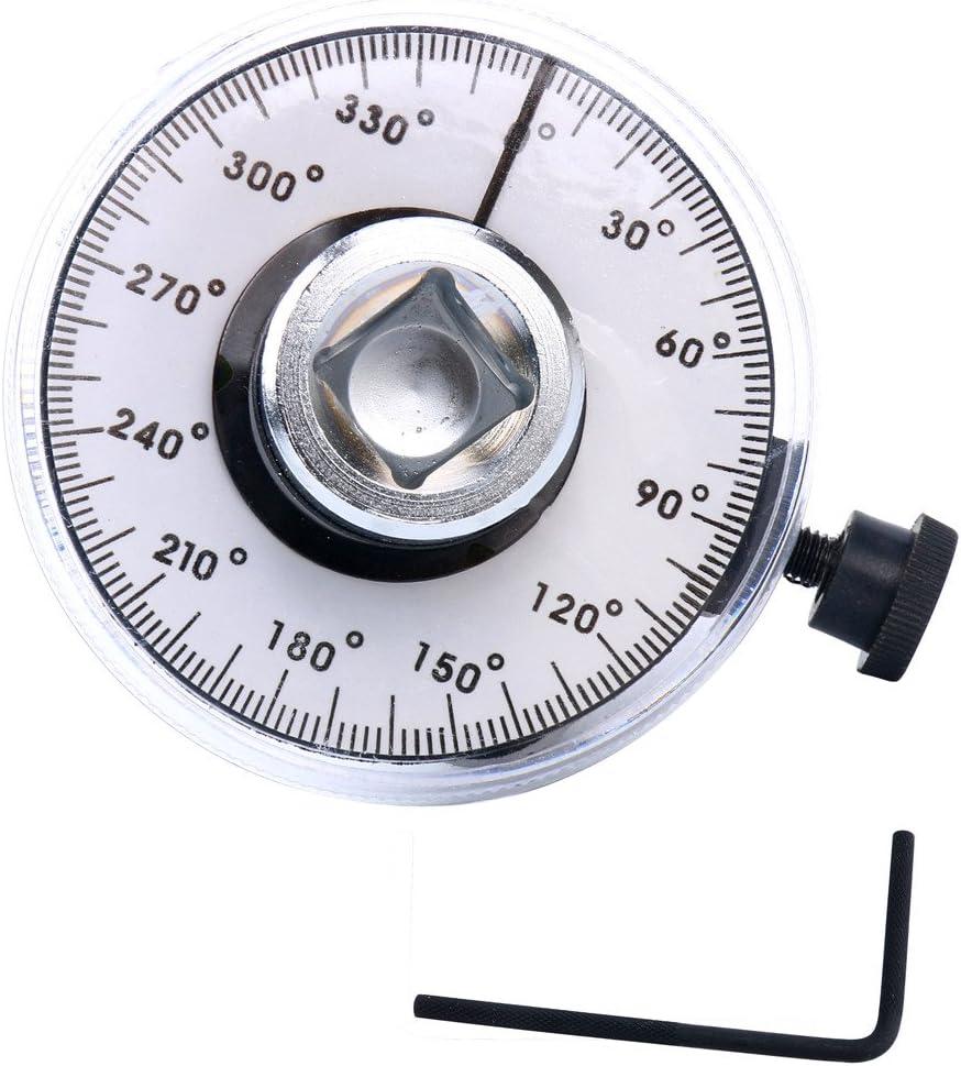 Hot selling Car 360° Angle Gauge Dial Torque Wrench 1//2/'/' Ratchet Meter Measurer