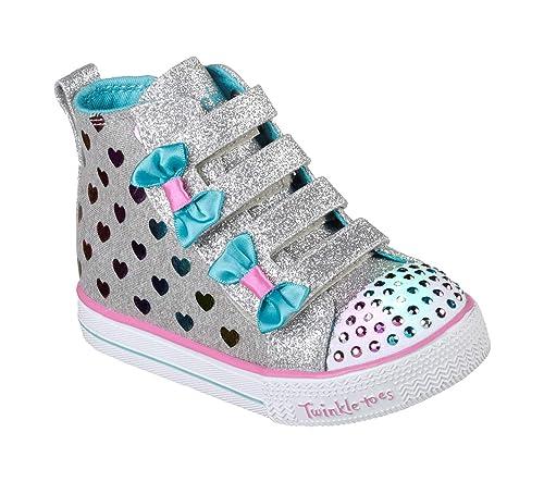 Skechers Shuffle Lite-Fancy Flutters, Zapatillas Altas para Niñas: Amazon.es: Zapatos y complementos