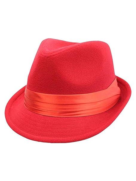 120643e82e4be Red Wool Felt Fedora Hat at Amazon Women s Clothing store