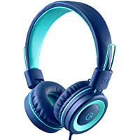 Kids Headphones - noot products K11 Foldable Stereo Tangle-Free 3.5mm Jack Wired Cord On-Ear Headset for Children/Teens…